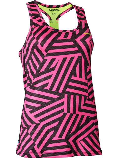 Salming T-Back Tanktop Women Pink/Yellow